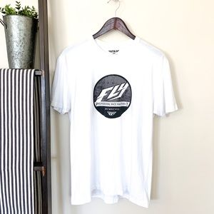 Fly Racing | Men's T-Shirt White Size Large